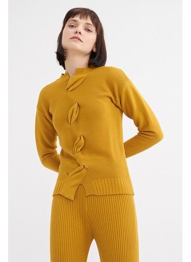 BGN Mimoza - Drapeli Triko Kazak - Pantolon Takım Renkli